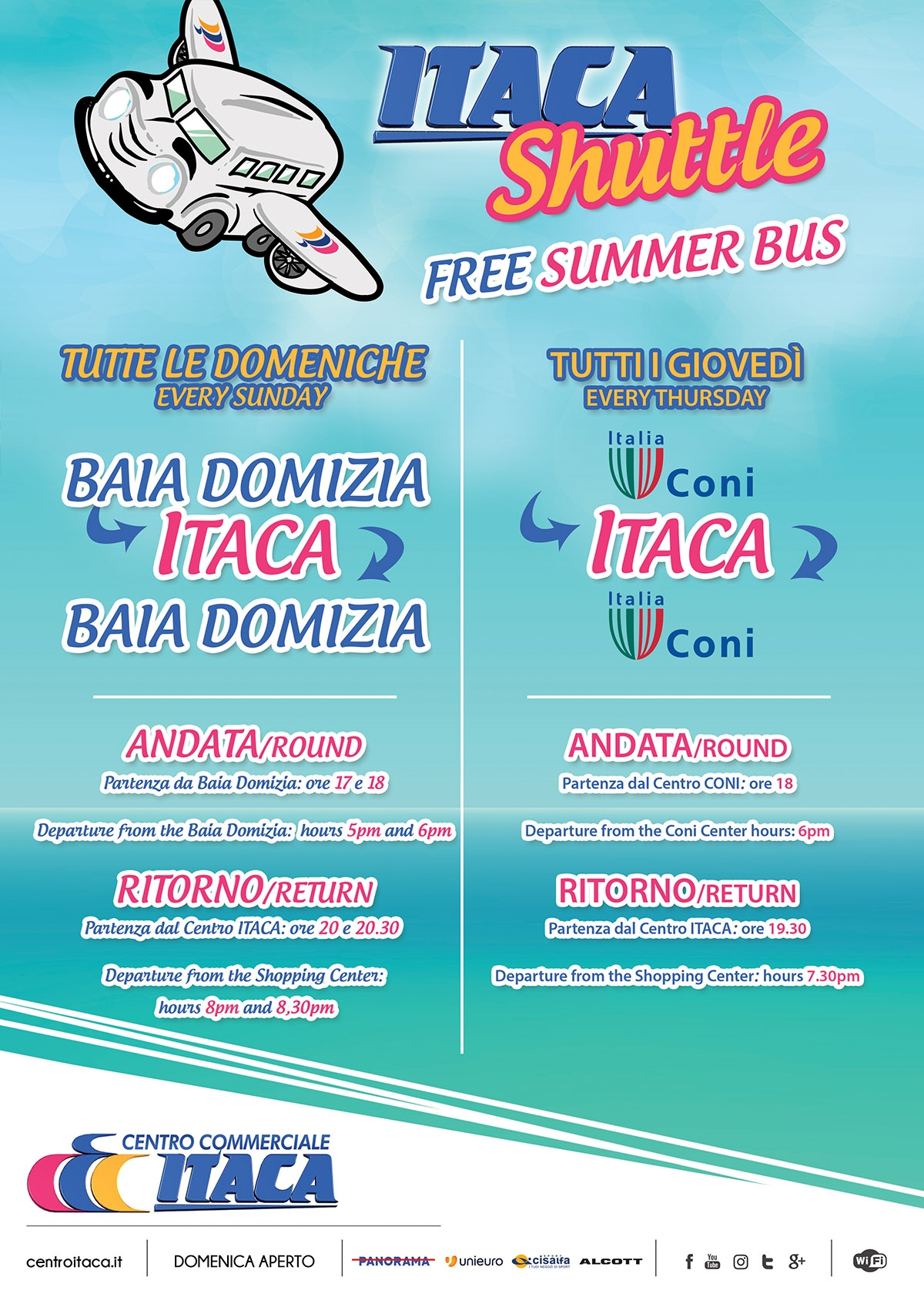 ITACA SHUTTLE - FREE SUMMER BUS