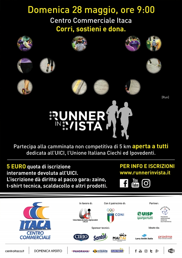 RUNNER IN VISTA - CORRI, SOSTIENI, DONA